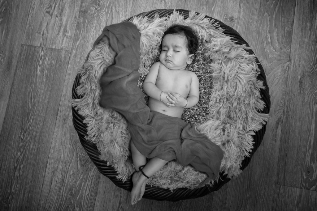 Basket Photo Idea for 6 Month Baby Boy