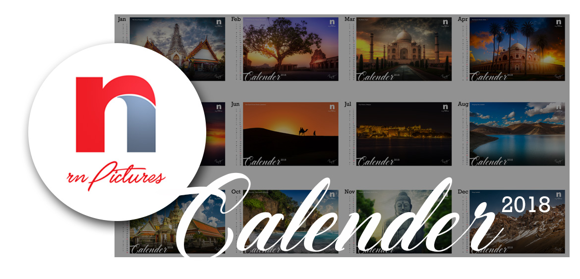 rnPictures Travel Photography Calendar 2018 Launch for New Year